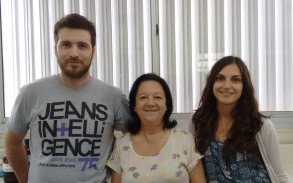 Work team. From left to right: Dr. Nicola,  Dra. Masini-Repiso y Bioq. Peyret.