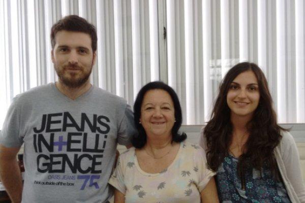 Equipo de trabajo. De izq. a der.: Dr. Nicola,  Dra. Masini-Repiso y Bioq. Peyret.