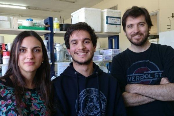 Equipo de trabajo. De izq. a der.: Bioq. Peyret, Lic. Martín y Dr. Nicola.